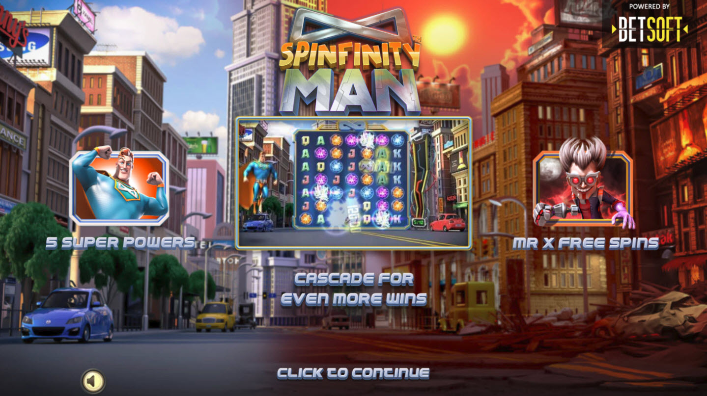 Play slots at Diamond 7: Diamond 7 featuring the Video Slots Spinfinity Man with a maximum payout of $10,000