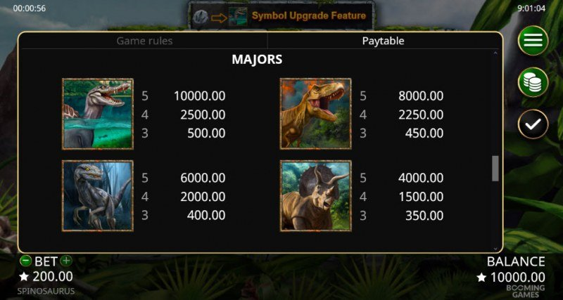 Spinosaurus :: Paytable - High Value Symbols