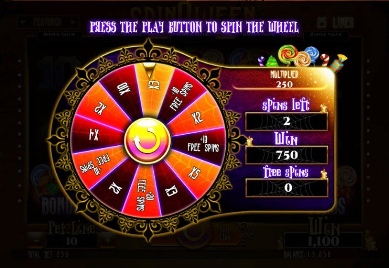 Spinoween :: Bonus game board