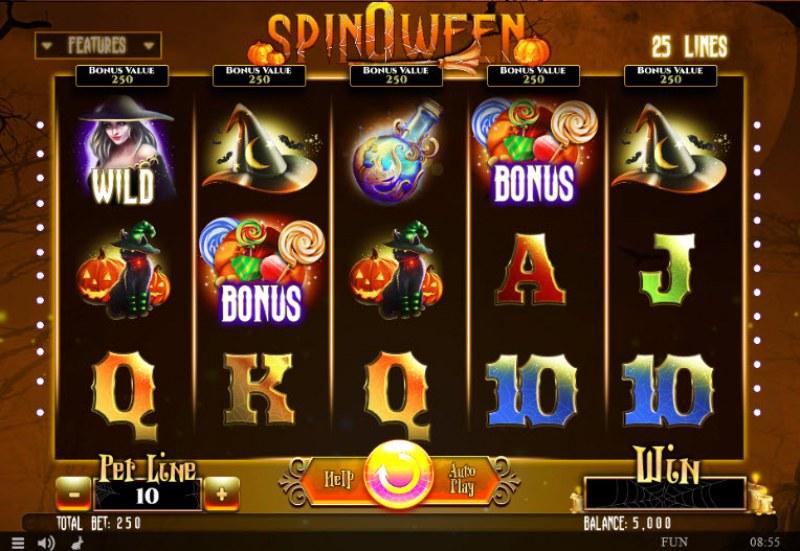 Spinoween :: Main Game Board