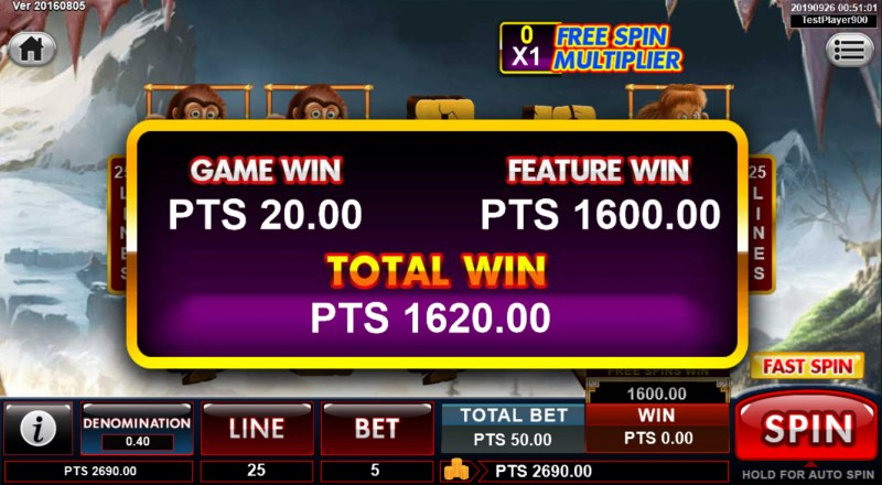 Spins Stone :: Total free games feature payout