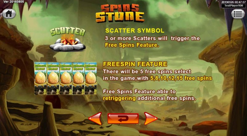 Spins Stone :: Scatter Symbol Rules