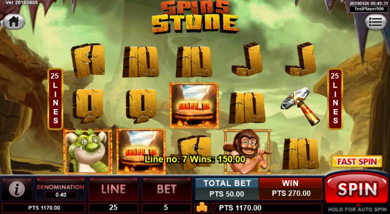 Spins Stone :: Multiple winning paylines