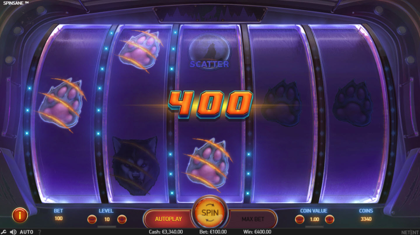 Play slots at iviCasino: iviCasino featuring the Video Slots Spinsane with a maximum payout of $250,000