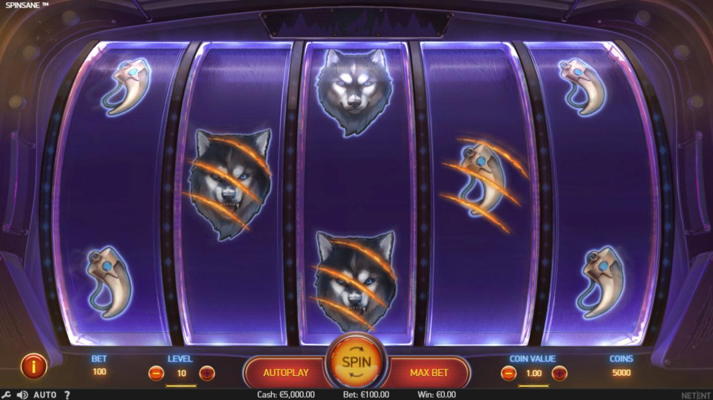 Play slots at Mega Casino: Mega Casino featuring the Video Slots Spinsane with a maximum payout of $250,000