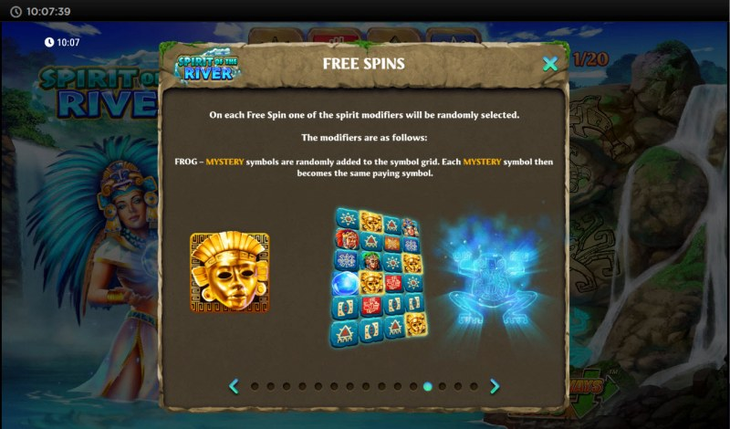 Spirit of the River :: Free Spin Feature Rules