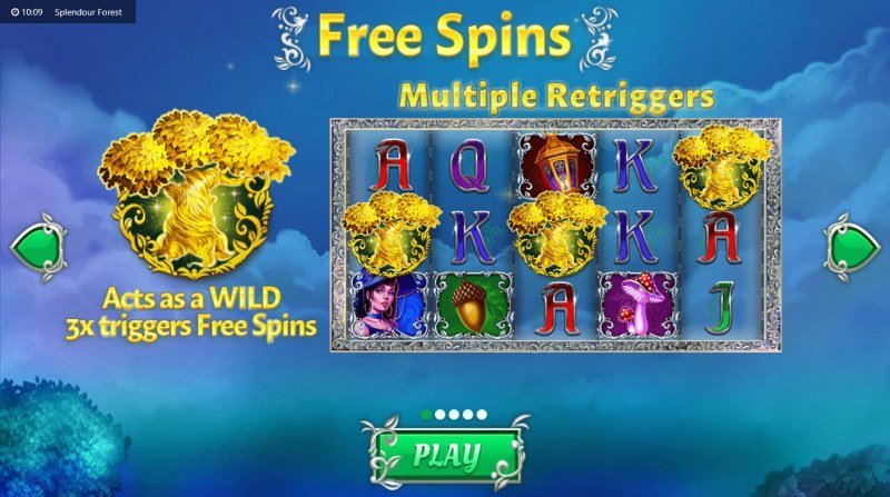Splendour Forest :: Free Spin Feature Rules