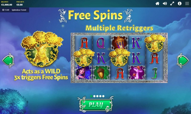 Splendour Forest :: Free Spins Rules