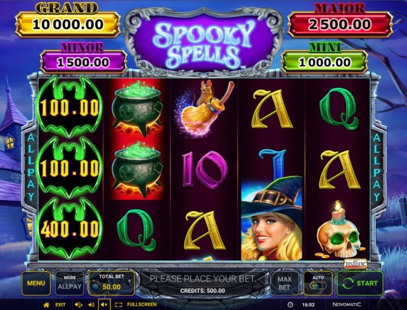 Spooky Spells :: Main Game Board