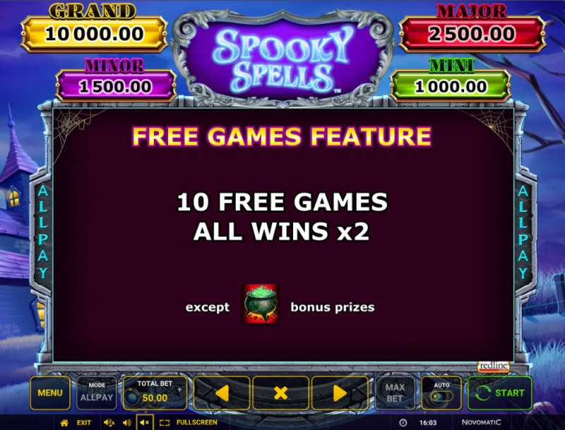 Spooky Spells :: Free Spin Feature Rules