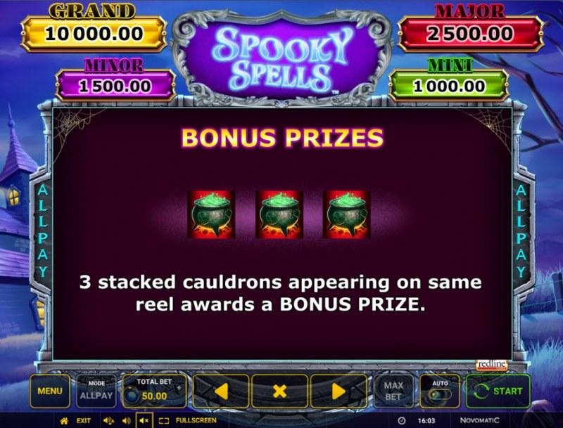 Spooky Spells :: Bonus Prizes