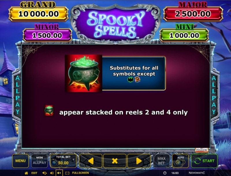 Spooky Spells :: Scatter Symbol Rules