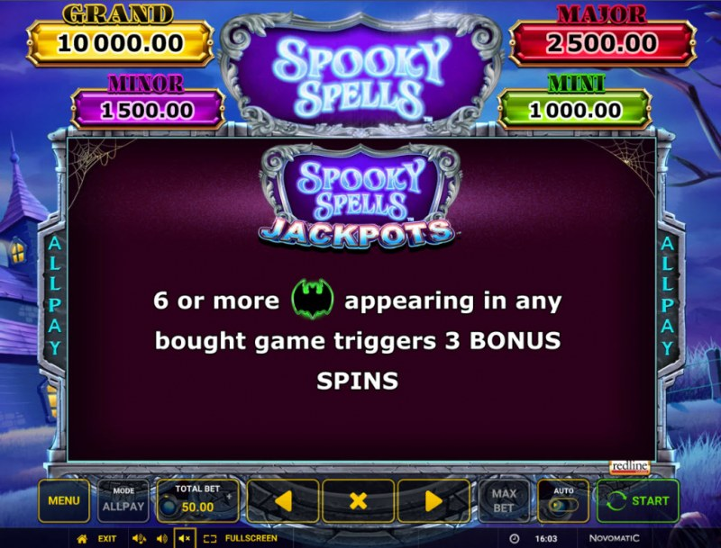 Spooky Spells :: Jackpot Rules