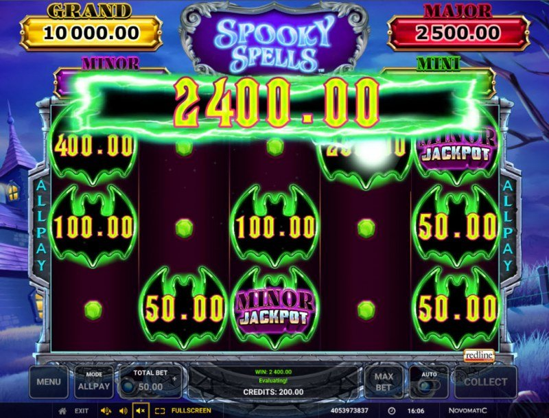 Spooky Spells :: Bonus play ends when no more money symbols land on the reels