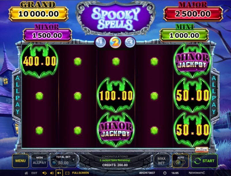 Spooky Spells :: 3 spins awarded for a chance to win big