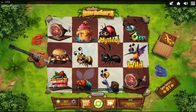 Spring Invaders :: Base Game Screen