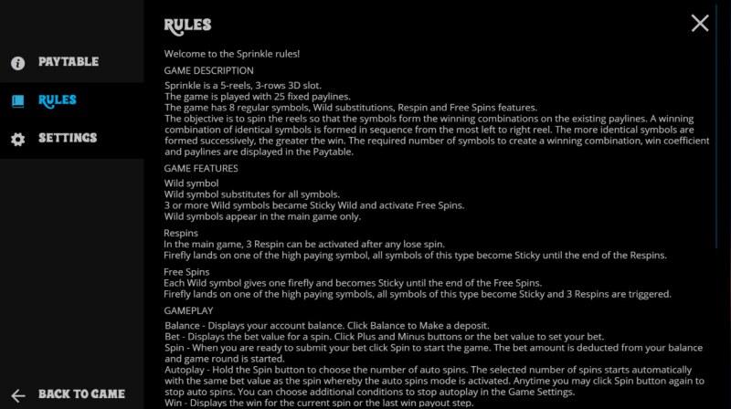 Sprinkle :: General Game Rules