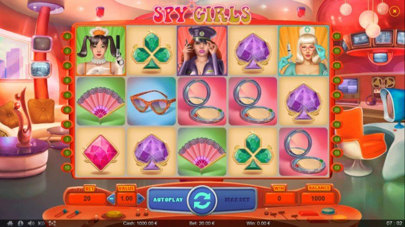 Spy Girls :: Main Game Board