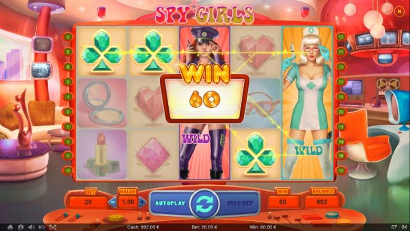 Spy Girls :: Stacked wild trigger multiple winning lines