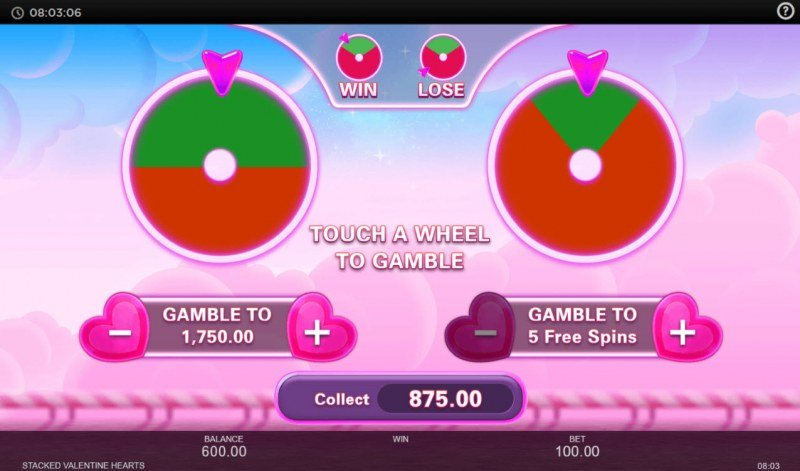 Stacked Valentine Hearts :: Gamble feature