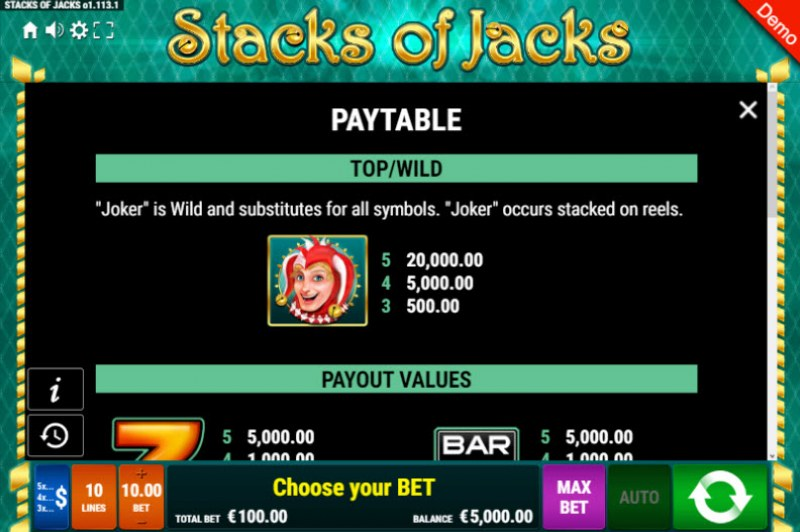 Stacks of Jacks :: Wild Symbols Rules