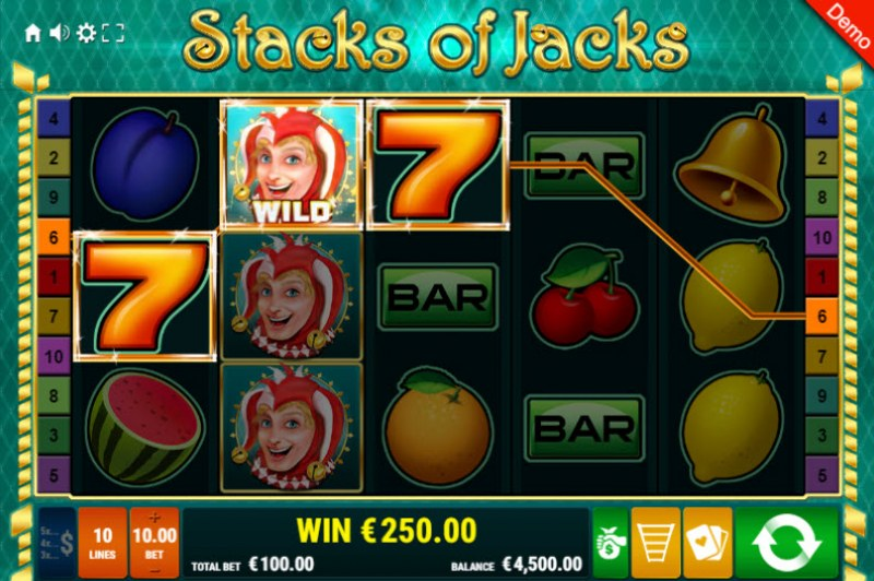 Stacks of Jacks :: Multiple winning paylines