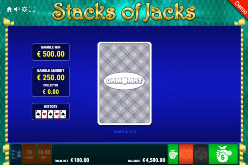 Stacks of Jacks :: Red or Black Gamble Feature