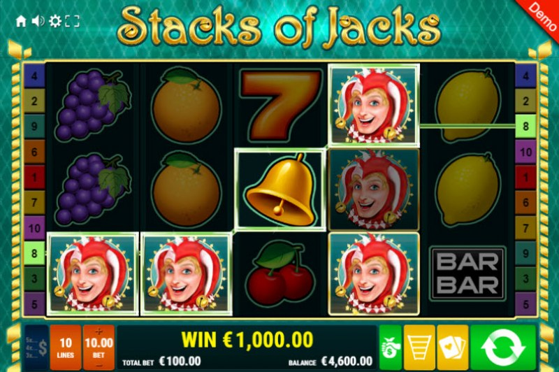 Stacks of Jacks :: Four of a kind Win