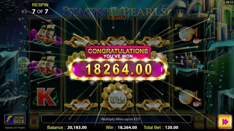 Stacks of Pearls :: Total free spins payout