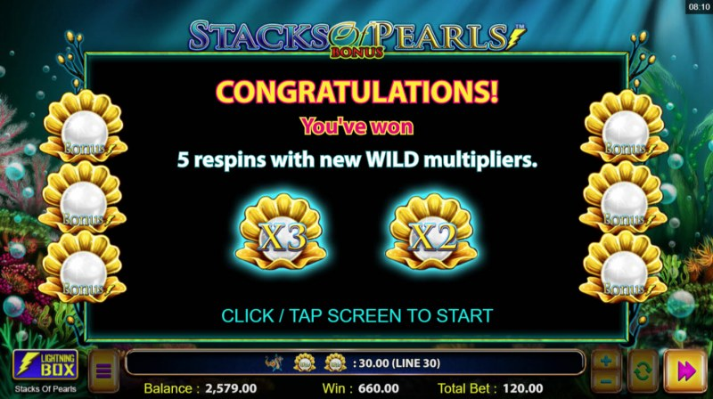 Stacks of Pearls :: 5 respins awarded