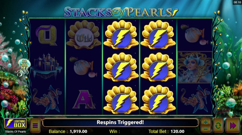 Stacks of Pearls :: Respin feature triggered