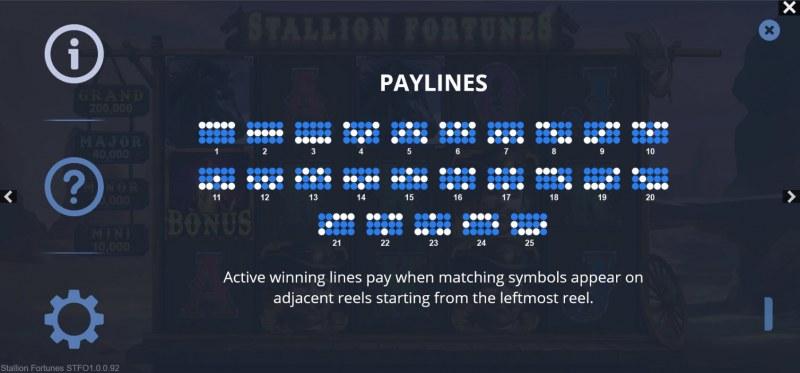 Stallion Fortunes :: Paylines 1-25