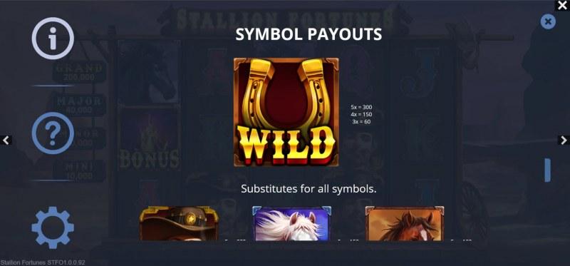 Stallion Fortunes :: Wild Symbol Rules