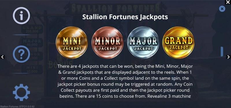 Stallion Fortunes :: Jackpot Rules