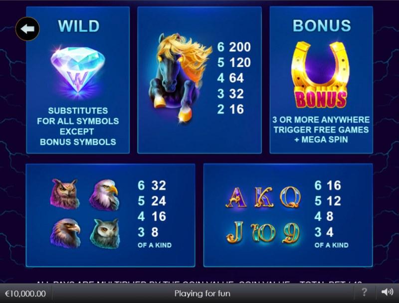 Stallion Strike :: Paytable