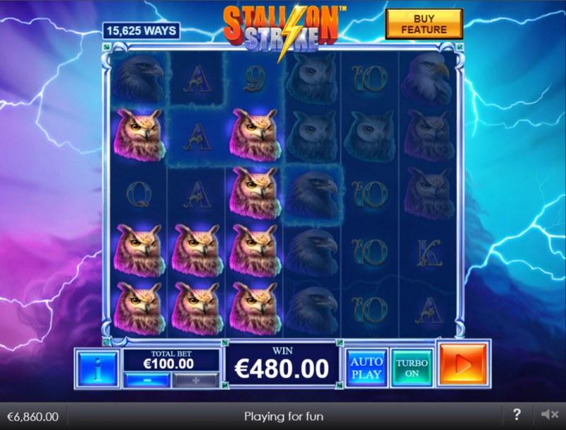 Stallion Strike :: Multiple winning combinations