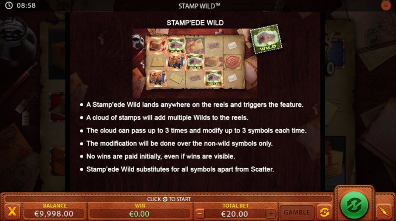 Stamp Wild :: Wild Symbols Rules