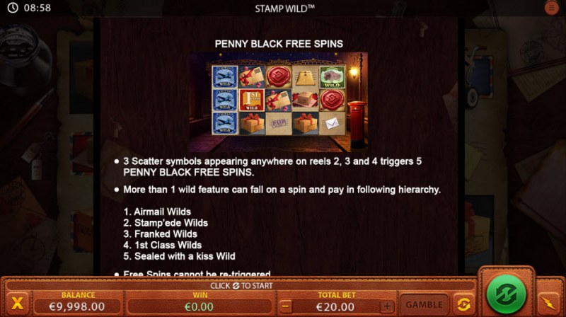 Stamp Wild :: Free Spins Rules