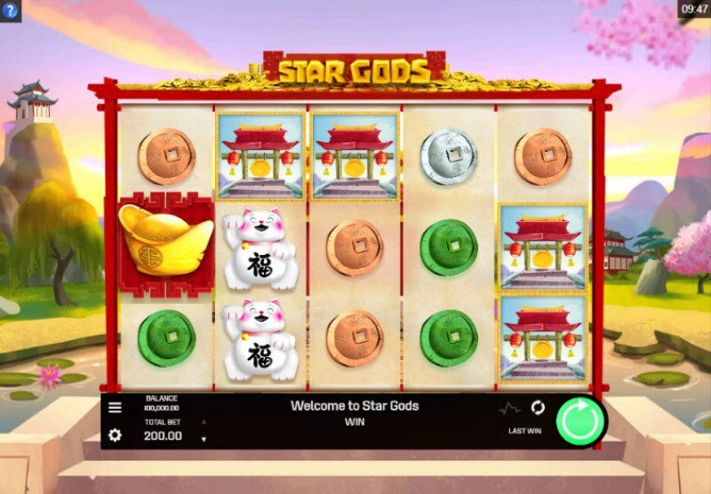 Play slots at Casino Classic: Casino Classic featuring the Video Slots Star Gods with a maximum payout of $60,000