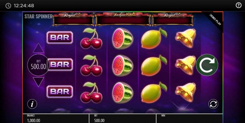 Star Spinner Jackpot King :: Main Game Board