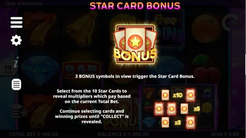 Star Stacks :: Star Card Bonus
