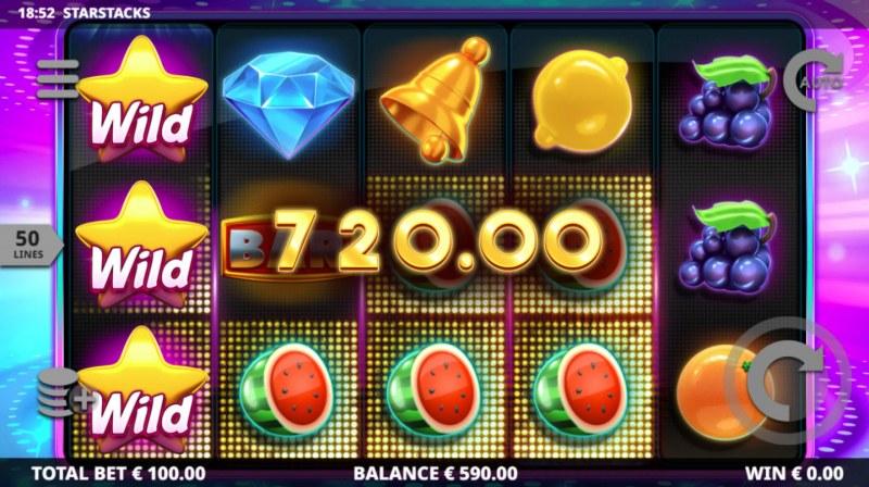 Star Stacks :: Multiple winning paylines