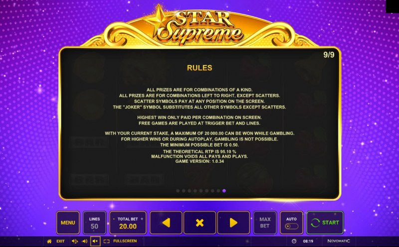 Star Supreme :: General Game Rules