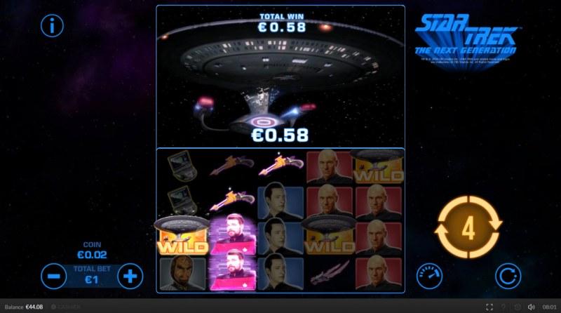 Star Trek The Next Generation :: Multiple winning paylines