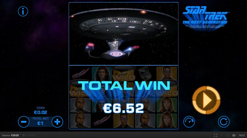 Star Trek The Next Generation :: Total free spins payout