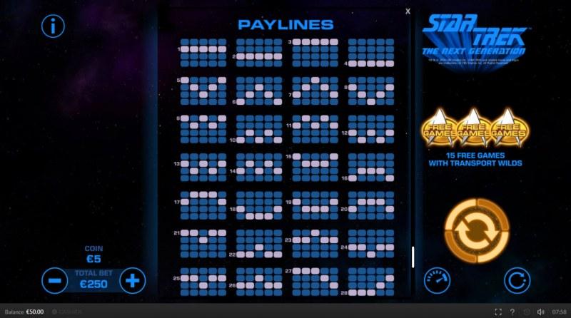 Star Trek The Next Generation :: Paylines 1-25