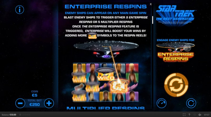 Star Trek The Next Generation :: Respins Feature Rules