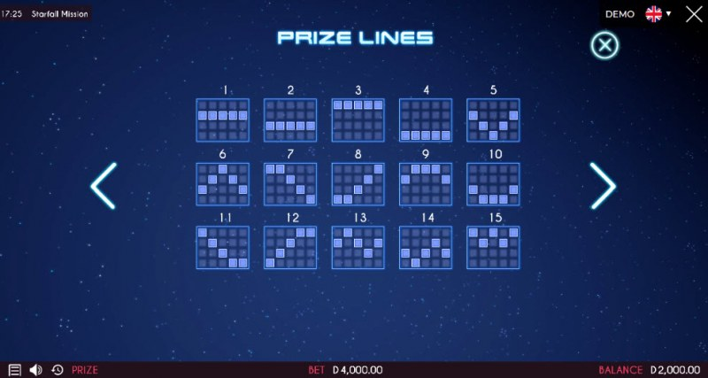 Starfall Mission :: Prize Lines 1-15