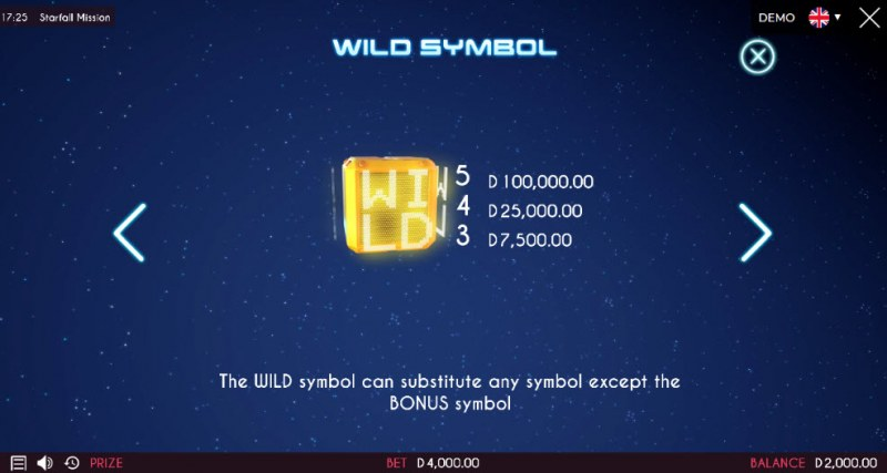 Starfall Mission :: Wild Symbols Rules