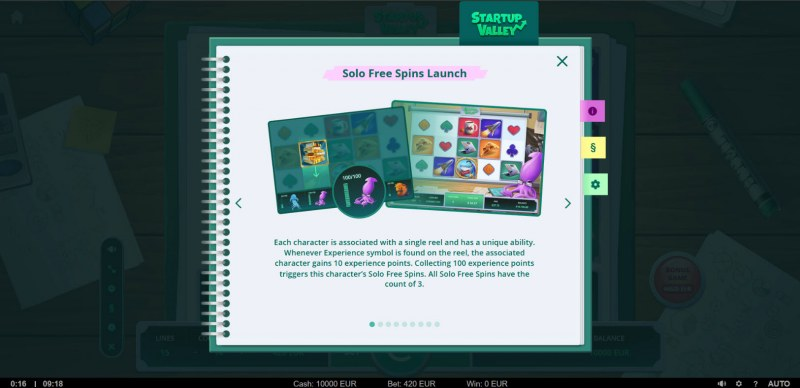 Startup Valley :: Solo Free Spins Launch
